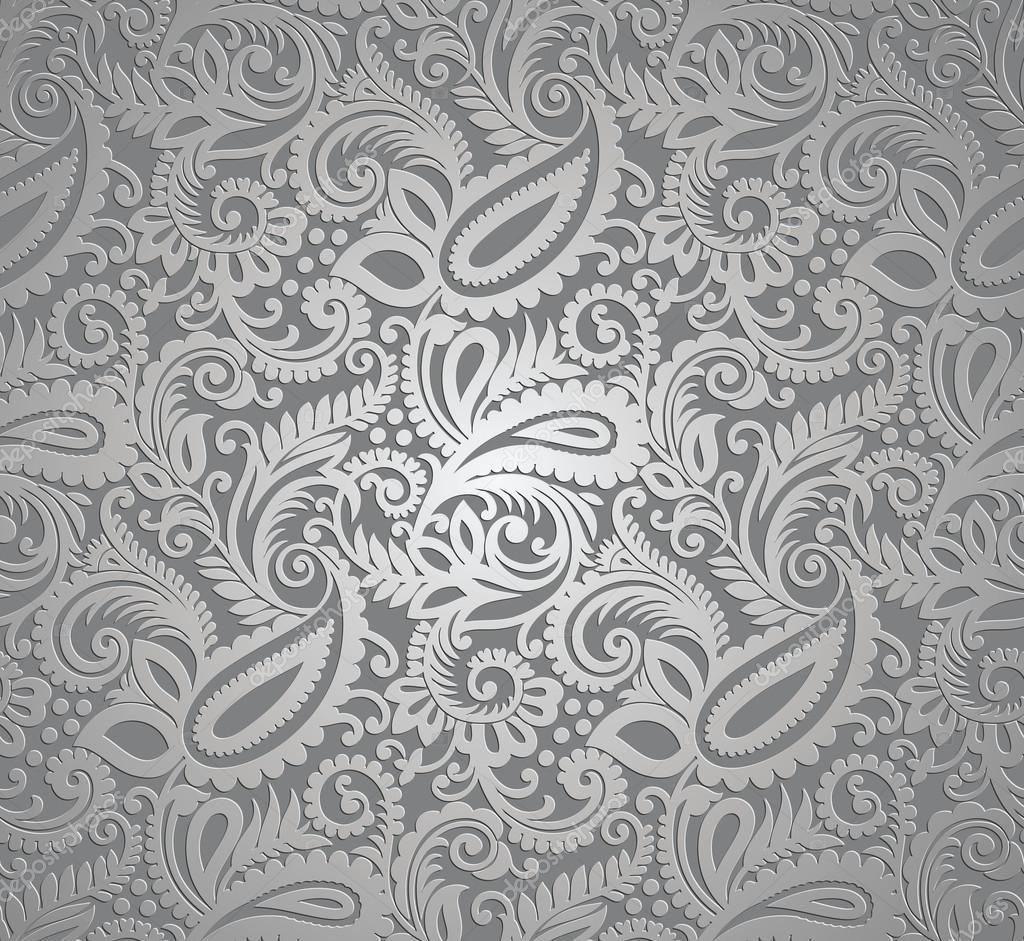 Paisley zilveren behang — Stockvector © malkani #28486225: nl.depositphotos.com/28486225/stock-illustration-paisley-silver...