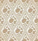 Golden seamless floral wallpaper — Stock Vector