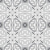 Seamless silver damask wallpaper — Stock Vector