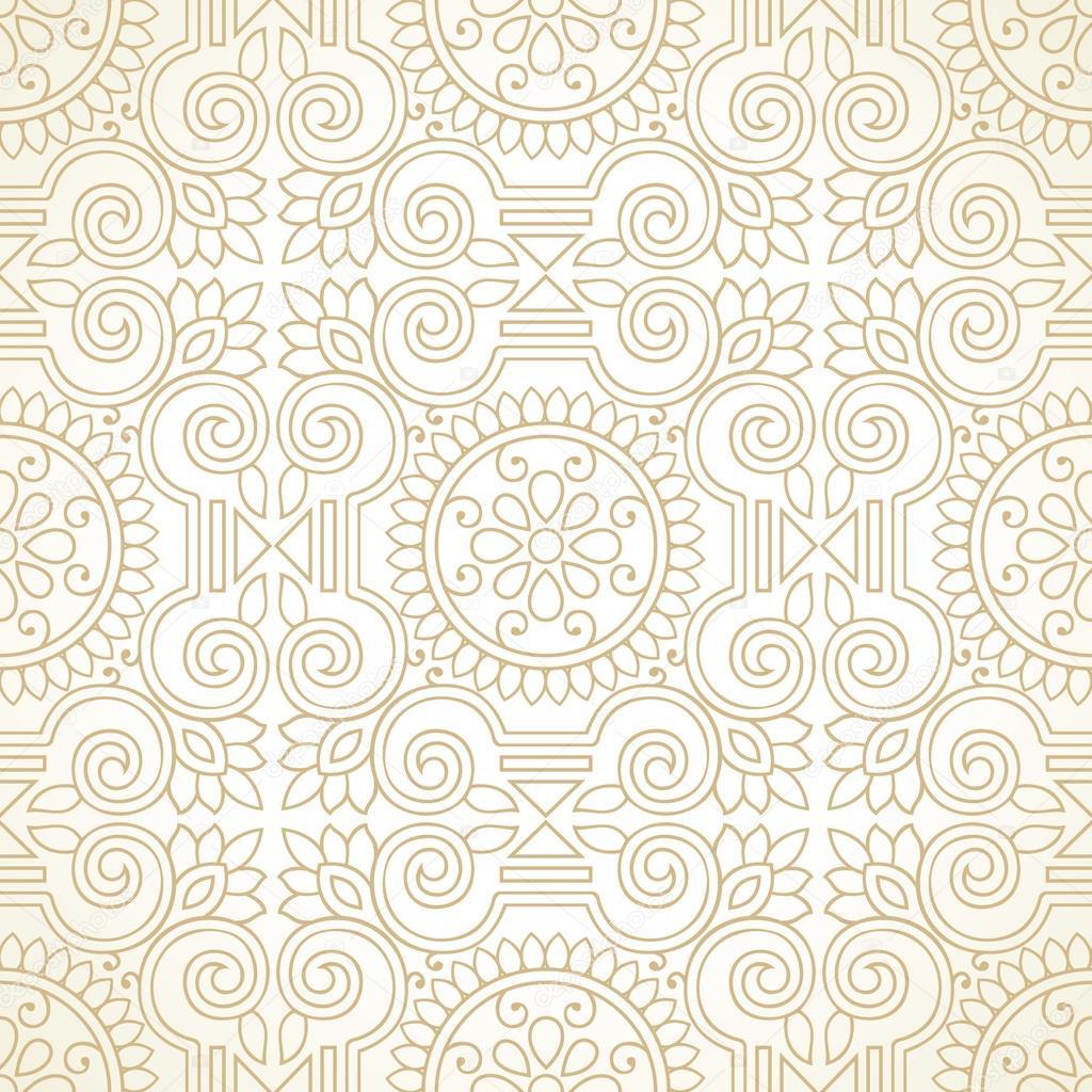 Traditional golden seamless wallpaper stock vector 169 malkani