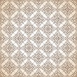 Seamless brown ornamental wallpaper — Stock Vector