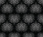 Seamless black royal damask wallpaper — Stock Vector