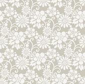 Seamless royal designer floral wallpaper — Stock Vector