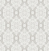 Seamless floral damask wallpaper — Vecteur