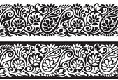 Seamless paisley border — Stock Vector