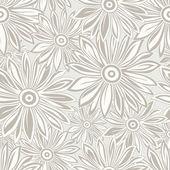 Seamless designer floral background — Stock Vector