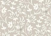 Vector seamless floral wallpaper — Stock Vector