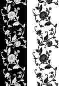 Seamless vector floral border — Stock Vector