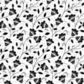 Seamless floral pattern on white background — Stock Vector