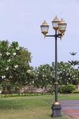 Lâmpadas em parque público — Foto Stock