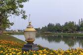 Garden Lamp in Public Park — Stock Photo