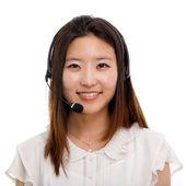 Call center operator business woman — Stock Photo