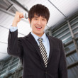 Happy young Asian business man — Stock Photo