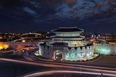 Kore geleneksel simgesel yapı su-won kalesi — Stok fotoğraf