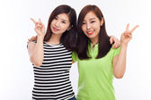 Two Asian young girl — Stock Photo