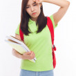 Young Asian student having a trouble. — Stock Photo #17648713