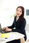 Yong pretty Asian student studying — Stock Photo