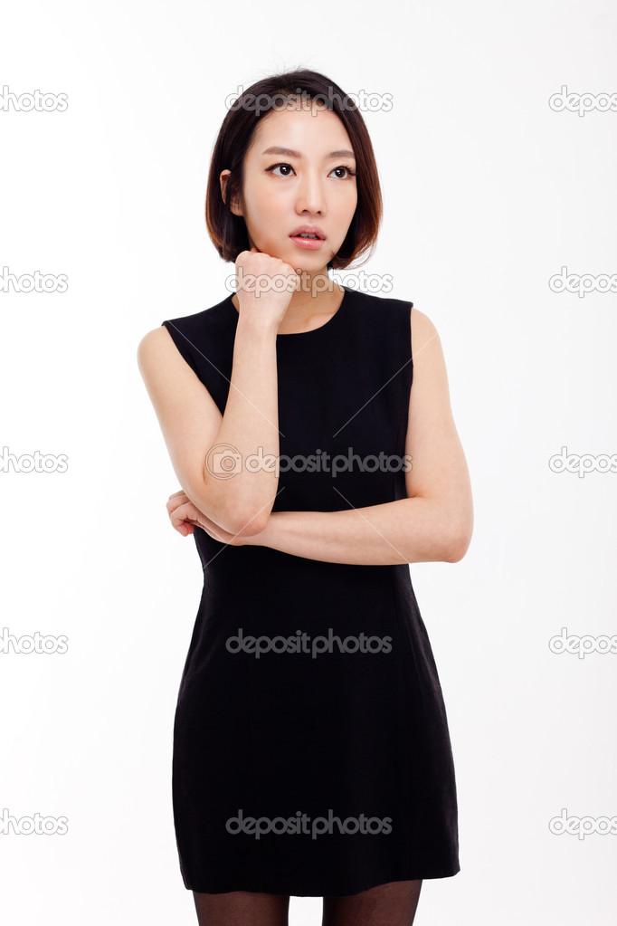 郁闷年轻亚裔女子