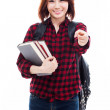 Young Asian woman pointing you — Stock Photo