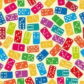 Dominoes pattern — Stock Vector