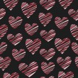 Stock vektor: Hearts pattern