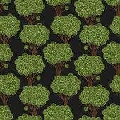 Patrón de árboles — Vector de stock