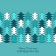 Christmas tree border - Stock Vector