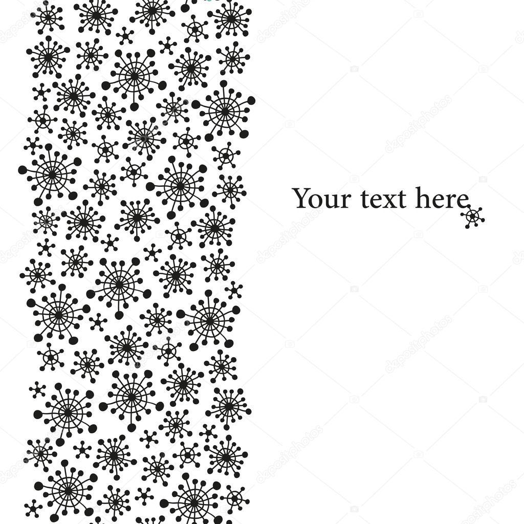 Snowflakes border — Stock Vector © Magnia #14866277