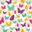 Stock Vector: Butterfly pattern