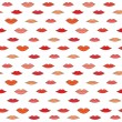 Stock Vector: Lips pattern