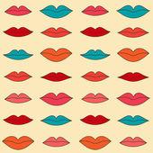Patrón de labios — Vector de stock