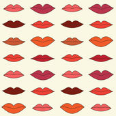 Lips pattern — Stock Vector