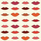 Lips pattern — Stock Vector