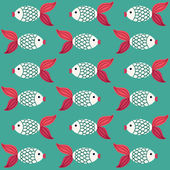 Fish pattern — Stock Vector