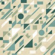 Seamless retro abstract geometric pattern. Vector illustration — Stok Vektör