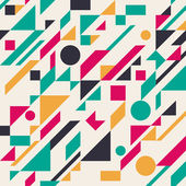 Seamless retro abstract geometric pattern. Vector illustration — Stock Vector