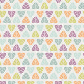Seamless stylish pattern with color leaves — Stock Vector