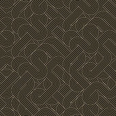 Seamless abstract dark pattern with twisted lines — Stock Vector