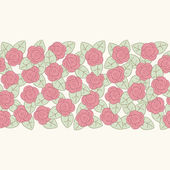 Flower border — Vector de stock