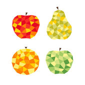Stylized fruits — Stock Vector