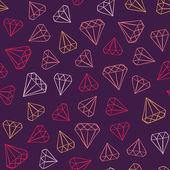 Gems pattern — Stock Vector