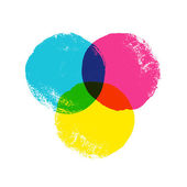 CMYK circles — Stock Vector