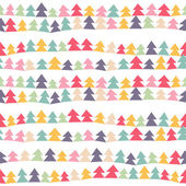 Christmas trees pattern — Vecteur
