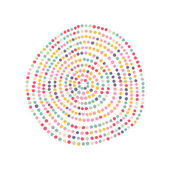 Color dots circle — Stock Vector