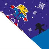 Snowboard Rider — Stock Vector