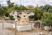Corinthian capital in Agora — Stock Photo
