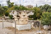 Corinthian capital in Agora — Stock Photo