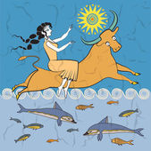 The rape of Europa — Stock Vector