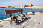Bench in Chania — Stock Photo
