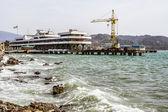 Port of Sukhum, Abkhazia — Stock Photo